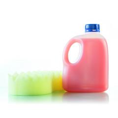 Gallons bottle of pink liquid