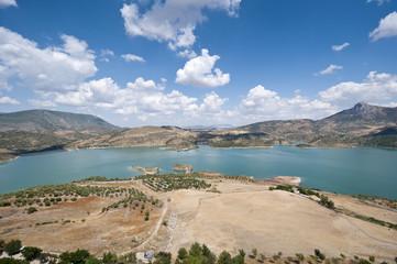 Views of Zahara Reservoir, Cadiz, Andalusia, Spain