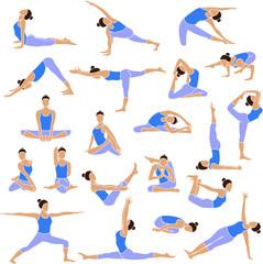 Yoga set icons