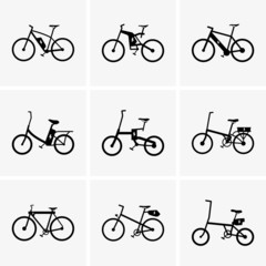 Set of Electric bicycles