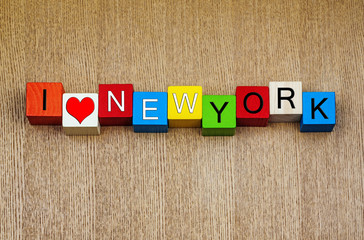 I Love New York - sign series for travel and cities
