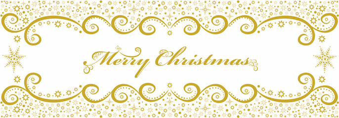 Seamless gold background with a Christmas greeting