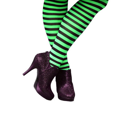 Green Striped Witch Legs
