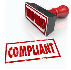 Wall Mural - Compliance Stamp Word Audit Rating Feedback