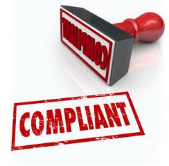 Fototapete - Compliance Stamp Word Audit Rating Feedback