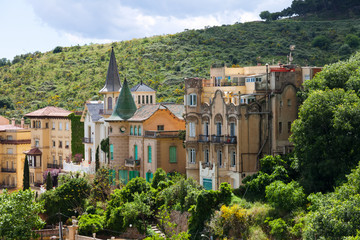 picturesque houses at Tibidabo mount