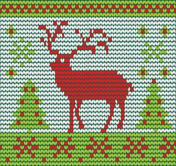 Reindeer made of wool