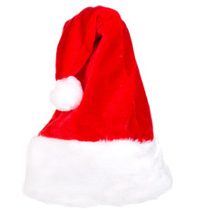 Single Santa Claus red hat isolated