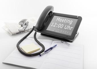 Meeting Telefon mit großem Display und Erinnerung