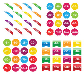 Obraz ribbons stickers - fototapety do salonu
