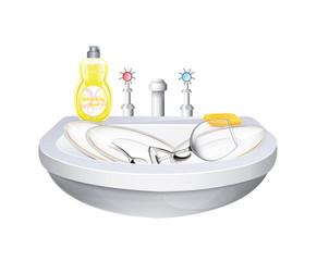 Washbasin With Crockery