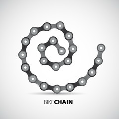 Bicycle chain in spiral - vector illustration