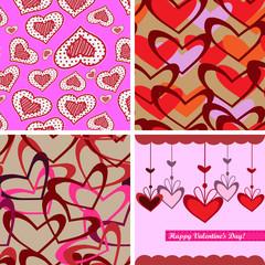 Valentine day seamless background