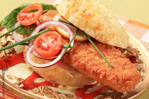 Сэндвич с рыбой рецепт с фото