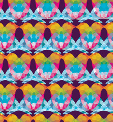 Wall Mural - Colorful birds seamless pattern