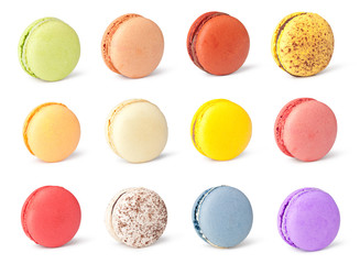 Stores à enrouleur Macarons Tasty colorful macaroon