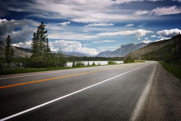 Empty road in Canada Wall mural
