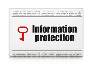 Security news concept: newspaper with Information Protection