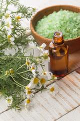Essential aroma oil and sea salt