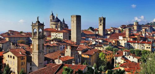 Bergamo, medieval town of northen Italy Wall mural