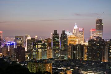 City night scene in Taipei
