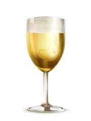 Glass of champagne illustration