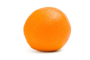 Close up of an orange, isolated on white background