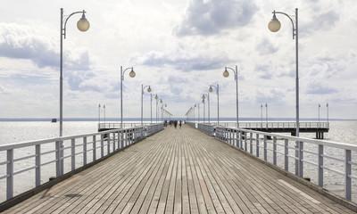 Jurata pier on the Hel peninsula, Baltic sea, Poland
