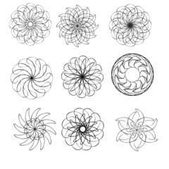 round decorative ornament elements