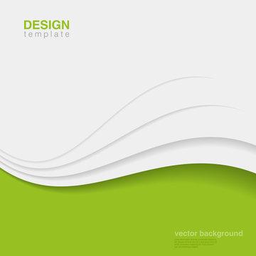 Background Eco Abstract Vector. Creative ecology design