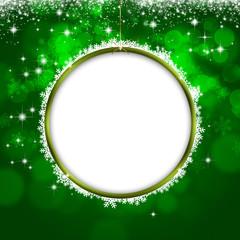 Holiday Green Xmas Greeting Card
