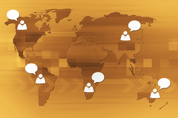 Wall Mural - Concept of social network background. Communication of people.