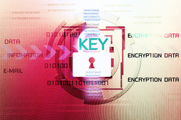 Wall Mural - Background of security concept. Encryption information and data.
