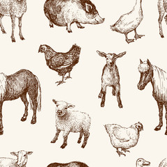 pattern of the farm animals