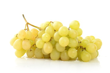 Bunch of white grapes