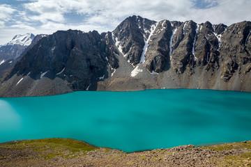 Wall Mural - Amazing alpine lake Ala-Kul, Kyrgyzstan