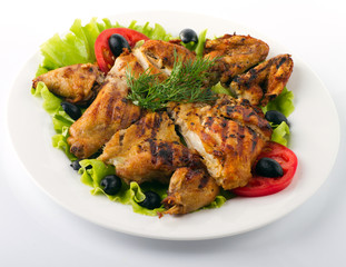 Tasty roasted chicken