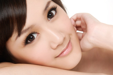 asian girl face for beauty products