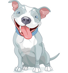 Canvas Prints Fairytale World Pit Bull Dog