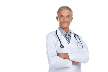 Smiling adult doctor looking at camera.