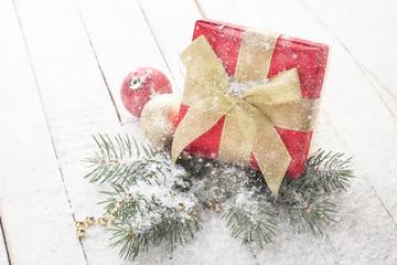 Decorative christmas composition. Holiday postcard.