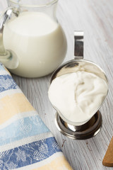 Dairy products - milk, sour cream.