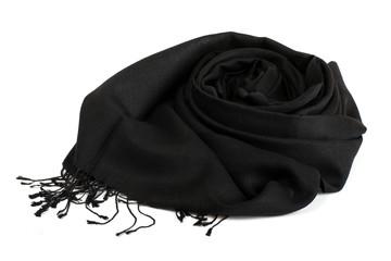 silk scarf black