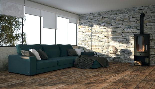 Loft - Wohnzimmer
