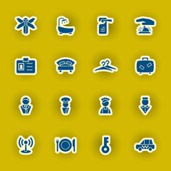 vector hotel icon set