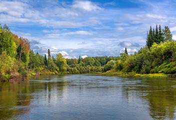 Siberian landscape with wilderness