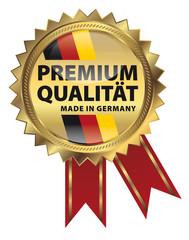 Premium Qualität - Made in Germany - Goldvignette