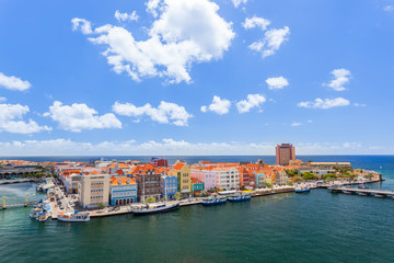 Panoramic view of Willemstad, Curacao. Wall mural