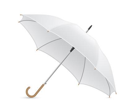 white umbrella vector illustration