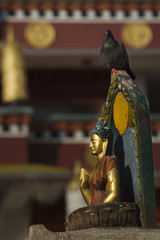 Buddha sculpture in Kathmandu temple